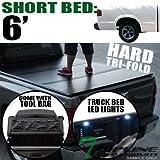 Topline Autopart Tri-Fold Solid Truck Topper Cap Tonneau ...