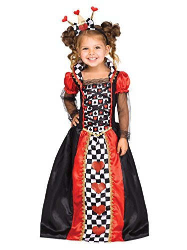 Fun World Queen of Hearts Toddler Costume, Large, Multicolor -