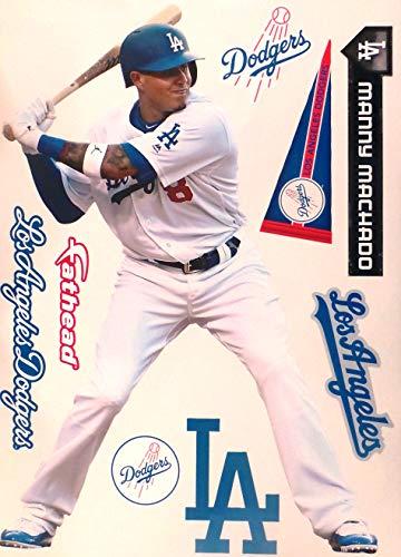 FATHEAD Manny Machado Los Angeles Dodgers Logo Set Official MLB Vinyl Wall Graphics 17