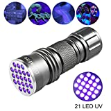Blacklight Flashlights, UV Flashlight 395nm DaskFire 21 LED Mini Ultraviolet Flashlight For Pet Dog and Cat Urine Stain Detector (Grey)