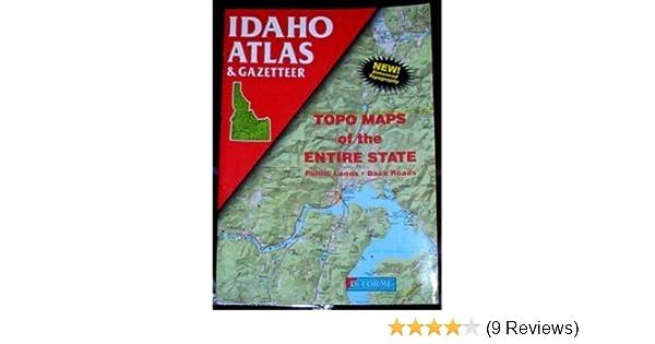 Idaho Atlas & Gazetteer (Delorme Atlas & Gazetteer): Delorme ...