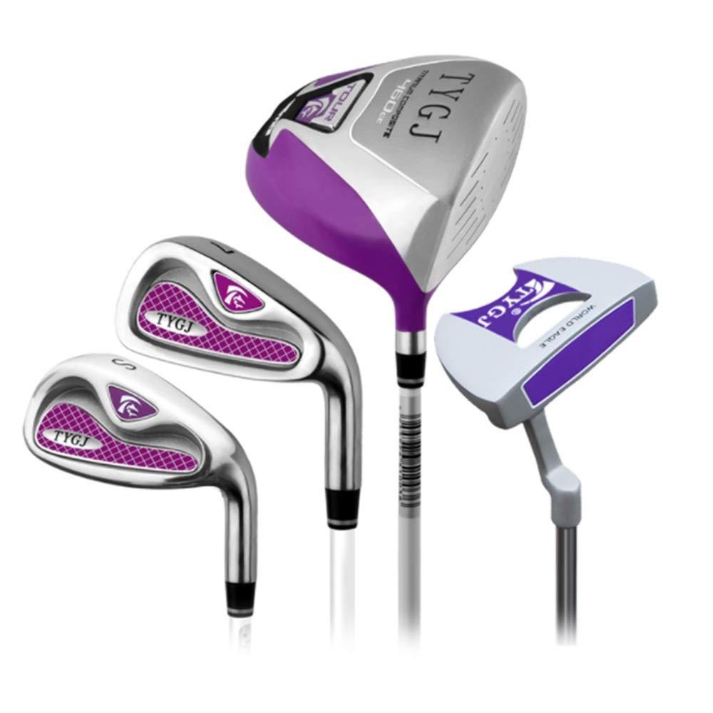 ゴルフクラブセット 4ピースゴルフクラブゴルフパターピンクゴルフセットロッドレディースハーフセット右手用ゴルフパター用女性 (色 : One color, サイズ : S1) B07S6S4BHV One color S1