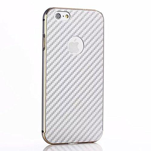 iPhone 6 Plus 5.5 pulgada Funda Case LifeePro Stylish 2 in 1 Patrón de teléfono híbrido [Anti-rasguños] [Antideslizante] Resistente a los golpes PU Cuero Plata Contraportada + Caja de parachoques de a Gris