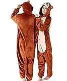 Animal Adult Unisex Brown Monkey Onesies Hoodie Kigurumi Pajamas