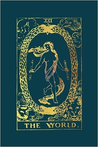 The World Tarot Card Journal: Gold Tarot Card Notebook 120-Page