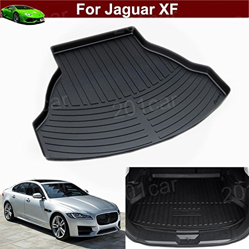 Hot Sale 1pcs Leather Car Boot Liner Rear Trunk Pretect Mat Trunk Tray Trunk Cargo Liner Mat Cargo Tray Floor Mat Custom Fit For Jaguar XF 2015 2016 2017 2018 by Tiantian
