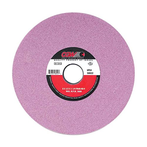 CGW-CAMEL 58004 Pink Aluminum Oxide Surface Grinding Wheel - Size: 7'' x 1/2'' x 1-1/4'' - Pack of 2 by CGW-CAMEL