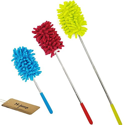 - M-jump Retractable Long-Reach Washable Dusting Brush , Microfiber Hand Duster with Telescoping Pole(set of 3)
