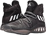 adidas Performance Men's Shoes | Crazy Explosive Basketball, Black/Black 1/White, (13 M US)