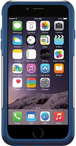 "OtterBox Defender Series Case & Holster for Apple iPhone 6 Plus 5.5"" - Ink Blot Blue (Certified Refurbished)"