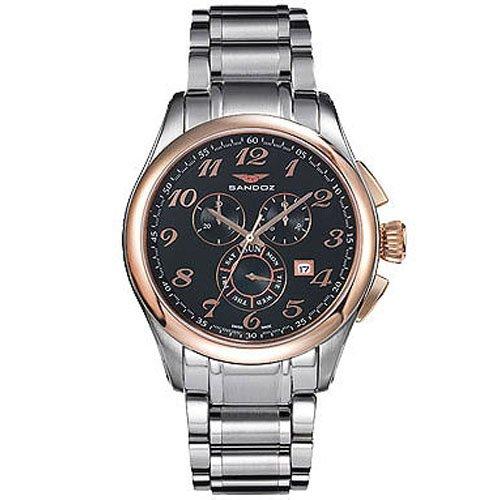 Reloj analógico cronógrafo y acero Sandoz 81343-95 color plata hombre brazalete: Amazon.es: Relojes