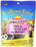 SunRidge Farms Organic Fair Trade Milk Chocolate Almonds (12 - 5 Ounce Bags)