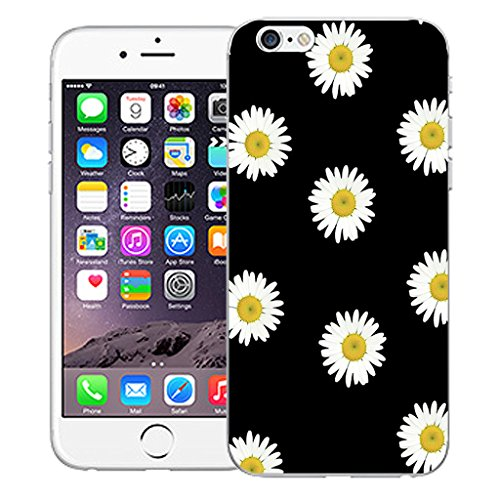 """Mobile Case Mate iPhone 6S Plus 5.5"""" Silicone Coque couverture case cover Pare-chocs + STYLET - Daisy pattern (SILICON)"""