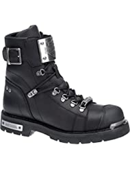 Harley-Davidson Men's Sewell Black Leather Motorcycle Boots D96125