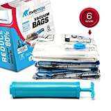 Vacuum Storage Bags by AVAMAX, Large Vacuum Storage Space Bags with Free Vacuum Pump for Clothes, Set of 6-Pack Vacuum Storage Bags of 32x40inch, Seal and Store Linen Bedding , Clothes Fast and Easy