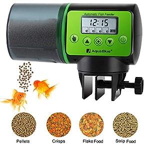 Torlam Auto Fish Feeder, Moisture-Proof Electric Auto Fish Feeder,Aquarium Tank Timer Feeder Vacation &Weekend 2 Fish Food Dispenser 50