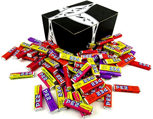 PEZ Candy Refills, 2 lb Bag in a BlackTie Box -