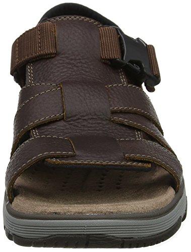 Trek Caviglia alla Dark Un Leather Sandali con Marrone Uomo Clarks Cinturino Tan Cove qS5nWwU