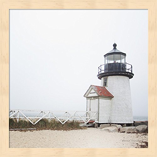 Metaverse R961373-0120000-AEAAAACAN4 13.25 x 13.25 in. Brant Point Light Framed Wall Art by Laura Marshall - Marshall Point Light