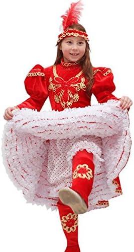 Taglia 6//7 Anni 107 cm Pegasus Vestito Costume Maschera di Carnevale Bambina Ballerina Can Can