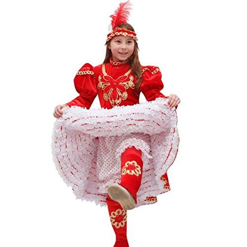 bce49e2e4b6d Pegasus VESTITO COSTUME Maschera di CARNEVALE bambina - Ballerina CAN CAN  CAN CAN - Taglia 12 13 anni - 131 cm bc660e