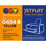 1 x JETPLAY T484 Yellow Compatible Ink Cartridge for Epson Stylus Photo R200, R220, R300, R300M, R320, R340, RX500, RX600, RX620, RX640 Replacement for T0484