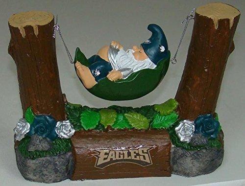 Philadelphia Eagles Sleeping in Hammock Gnome (Philadelphia Eagles Garden Gnome)