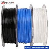 1.75mm PLA Filament Bundle, 3 Spools Pack (White/Black/Blue), Widely Compatible for 3D Printers, 1.1 lbs/Spool, Total 3.3 lbs, with One 3D Print Tool by Mika3D