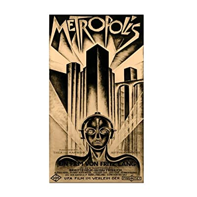 Trademark Fine Art Metropolis by Schuluz Nendamm Canvas Wall Art - Canvas Art, Ready to Hang 10x19 inches Canvas Gallery Wrapped Around Hidden Wooden Frame - wall-art, living-room-decor, living-room - 51050qQ0lkL. SS400  -