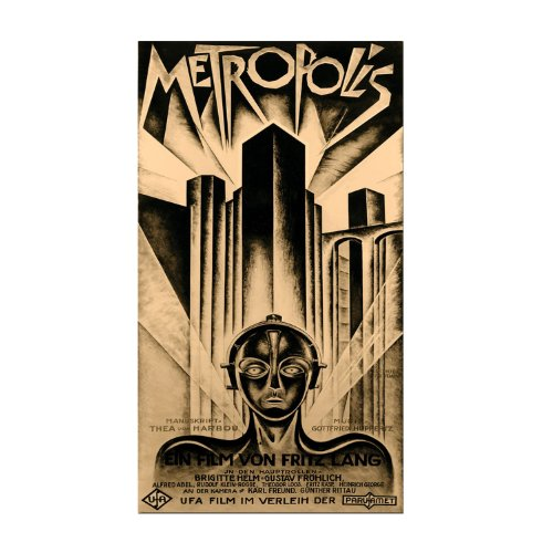 metropolis movie poster rolled canvas