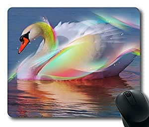 Beautiful Swan Masterpiece Limited Design Oblong Mouse Pad by Cases & Mousepads by mcsharks