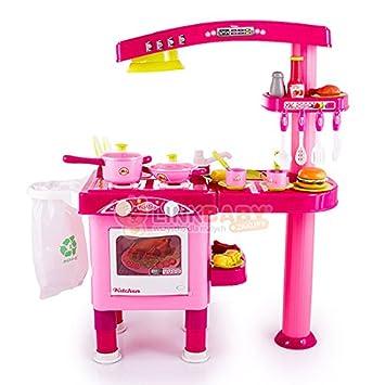 Kinderküche Kinder KP8072 ROSA Küche NEU Zubehör Töpfe Geschirr Backofen  Küchen Spielküche