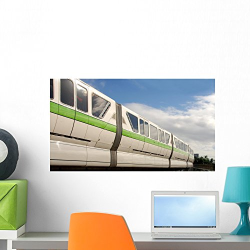 Wallmonkeys Fast Bullet Train Wall Decal Peel and Stick Graphic WM91854 (24 in W x 13 in H)