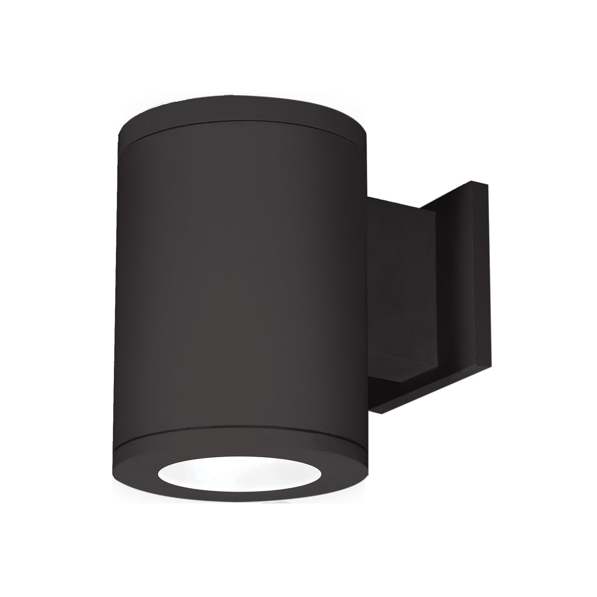 Away from Wall WAC Lighting DS-WS05-F27A-BK 5-Inch Single Side Tube Arch Wall Mount 2700K