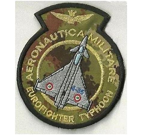 Patch Aeronautica Militar – Eurofighter fondo militar cm 8,5 x 10 bordado -244: Amazon.es: Hogar
