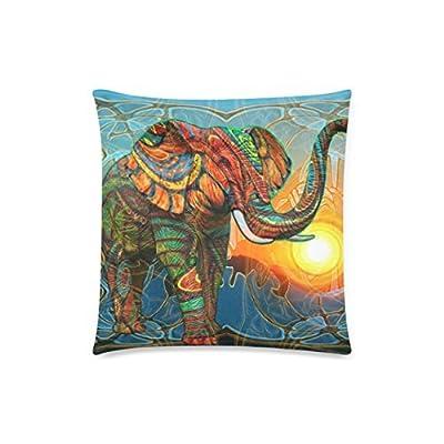 Honey Cushion Cover Aztec Elephant Decorative Pillow Case Protector 18x18 Inch