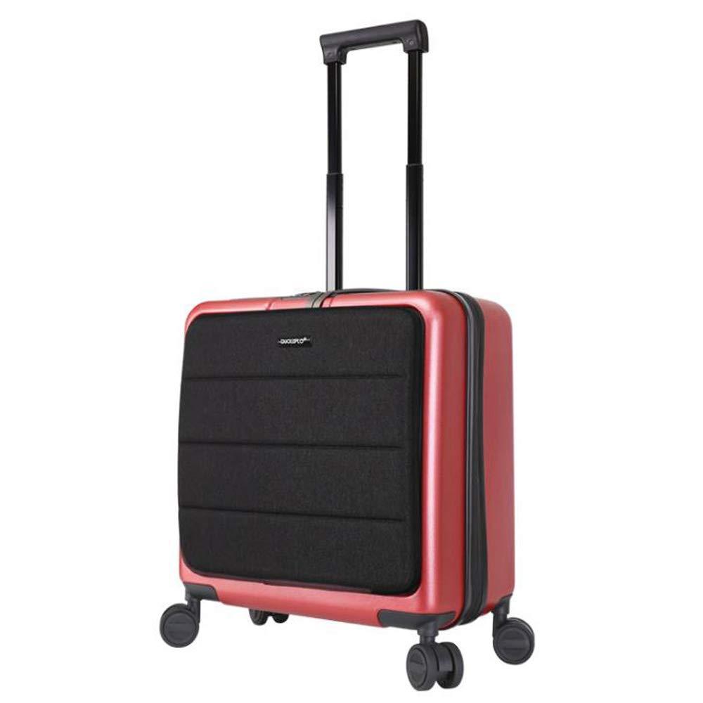 スーツケーススーパー軽量PCビジネスミュートトロリーケースユニバーサルホイール便利な旅行荷物42 * 23 * 47 cm B07SKHVWF6 Red