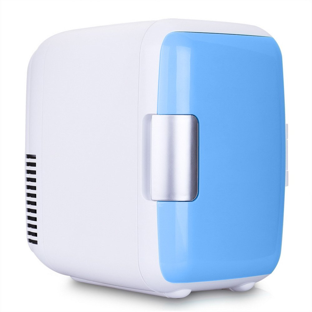 Car Cooling and Warming Mini Fridge,Portable Icebox Travel Box,4L 12V Cooler&Warmer Refrigerator Heating Food Electric Mini Fridge for Home,Office, Car or Boat Chengstore