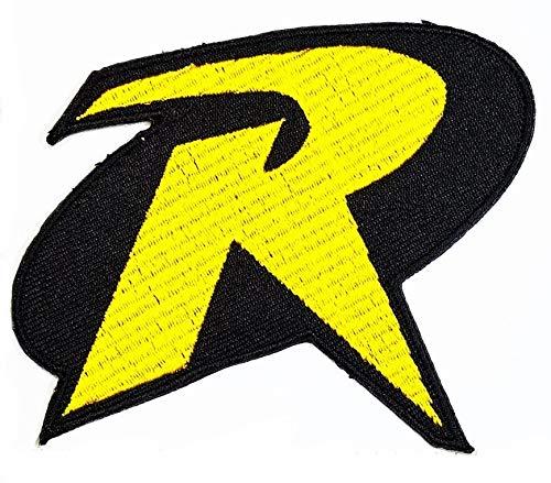 Patch Yellow T-shirt - Robin&Batman logo Blak&Yellow logo DC Logo Movie patch Superhero patch Symbol Jacket T-shirt Patch Sew Iron on Embroidered Sign Badge Costume