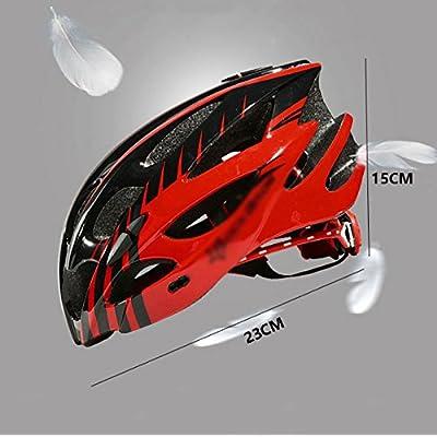 XUANLAN Casque de vélo, casque léger et confortable mâle et femelle formant un équipement route de montagne, 23 * 15cm