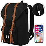 Benteng Laptop Backpack, Travel Backpack With USB Charging Port -Every Day & Travel Gear For School | Camping | Hiking | College Backpack - Large Bag For 15