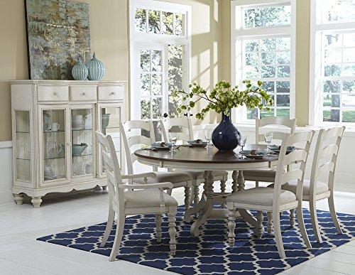 Hillsdale Pine Island 7 Piece Round Dining Set in Old White