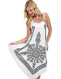 Ingear Crochet Casual Dress Embroidery Summer Beach Handkerchief Dress