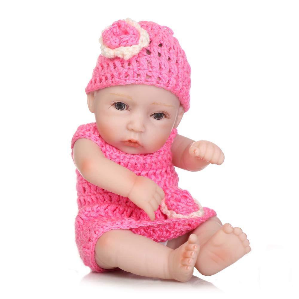 Hongge Reborn babies Lifelike Reborn doll looks real handmade lifelike soft live doll 27cm