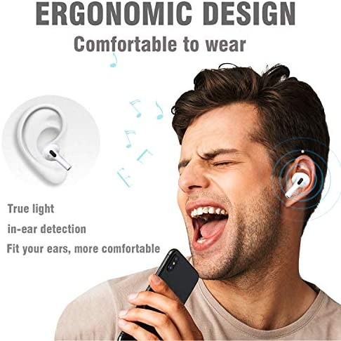Wireless Earbuds Bluetooth 5.0 Headphone in-Ear Headphones IPX5 Waterproof Function Intelligent Noise Reduction Built-in Microphone Earbuds with Box Suitable for iOS Android