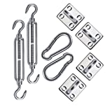RainLeaf Shade Sail Stainless Steel Hardware Kit for Rectangle and Square Sail