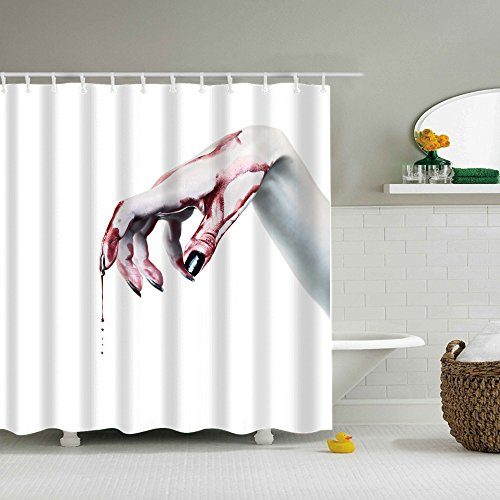 MOKO-PP Fashion Happy Halloween Waterproof Polyester Fabric Shower Curtain (K)