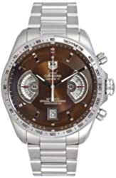 TAG Heuer Men's CAV511E.BA0902 Grand Carrera Automatic Chronograph Brown Dial Watch