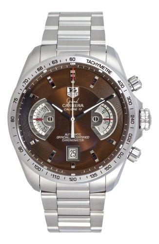 (TAG Heuer Men's CAV511E.BA0902 Grand Carrera Automatic Chronograph Brown Dial Watch)