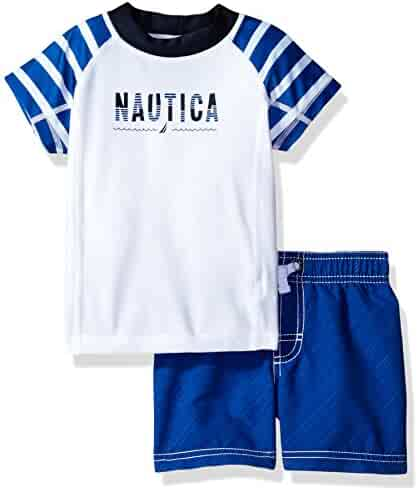 Nautica Boys' Two Piece Striped Rashguard Set